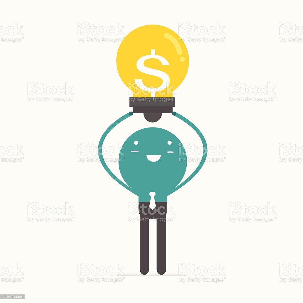 business man with idea,vector,illustration. royalty-free stock vector art