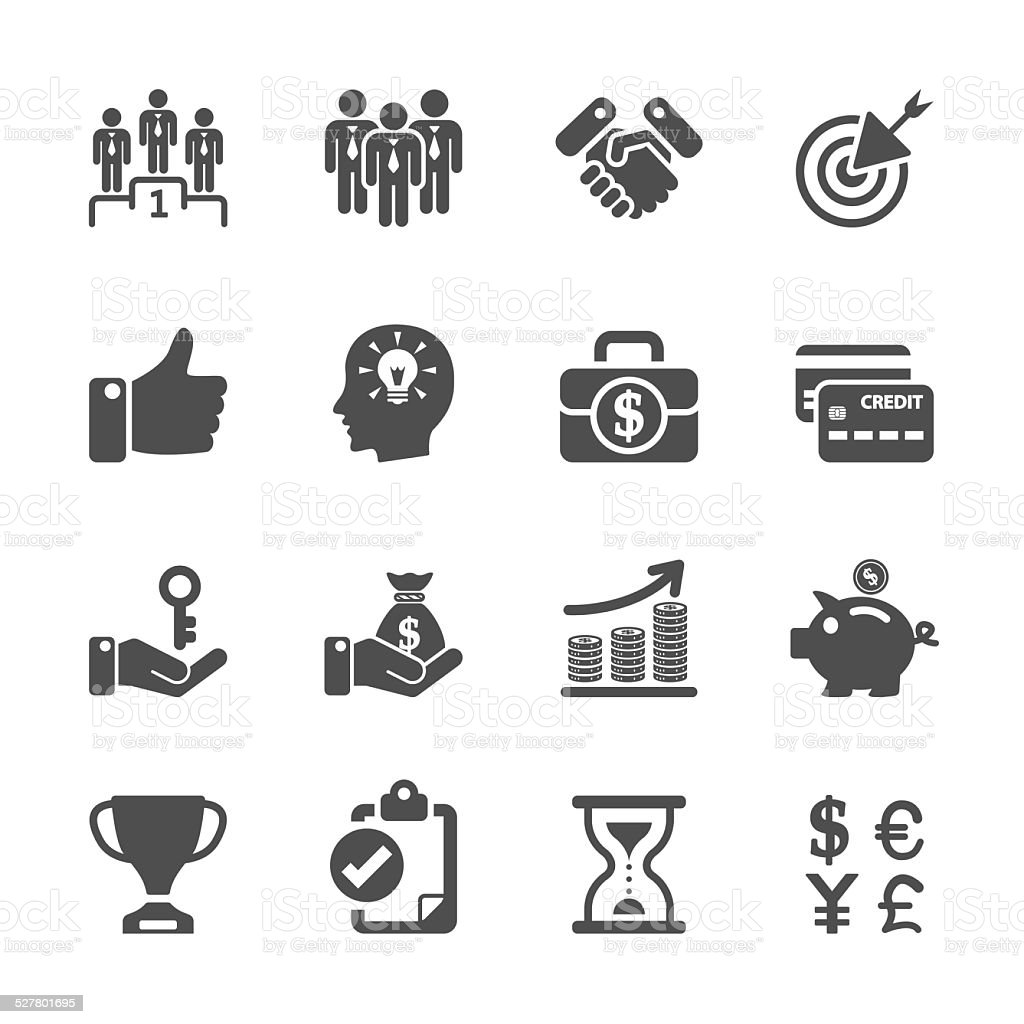 business management and human resources icon set, vector eps10 vector art illustration