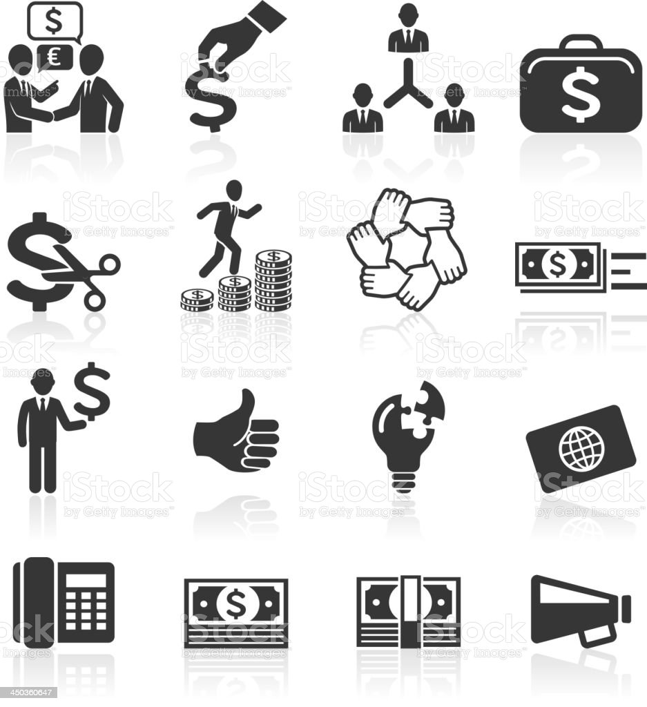 Business management and human resources icons. royalty-free stock vector art
