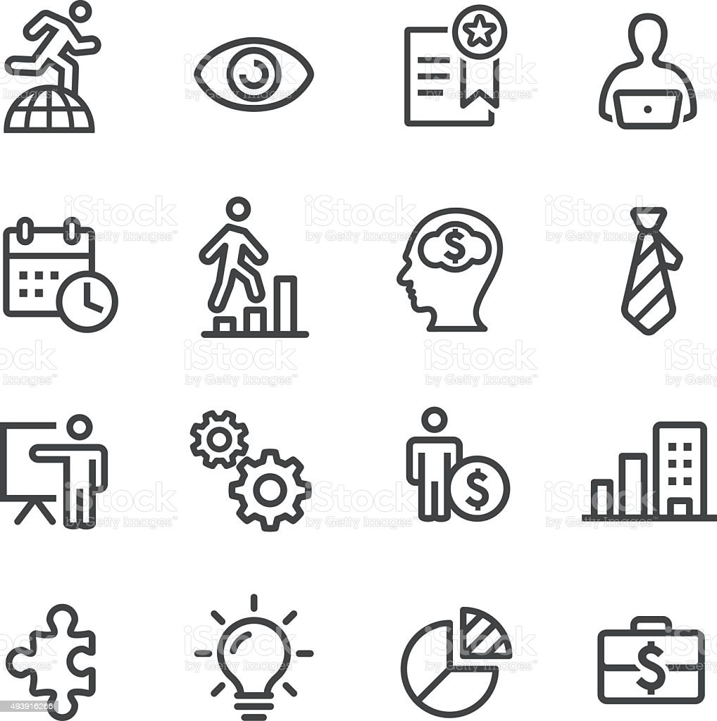 Business Management Icons - Line Series vector art illustration