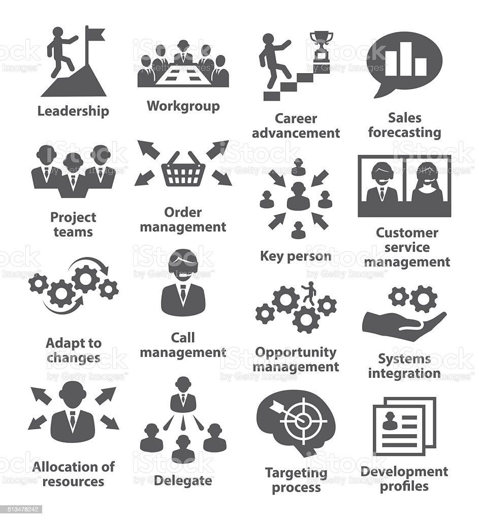 Business management icons. Pack 02. vector art illustration
