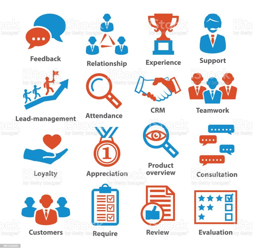 Business management icons. Pack 03. vector art illustration