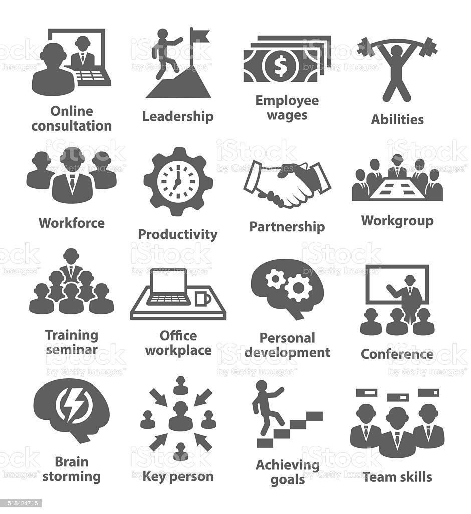 Business management icons. Pack 11. vector art illustration