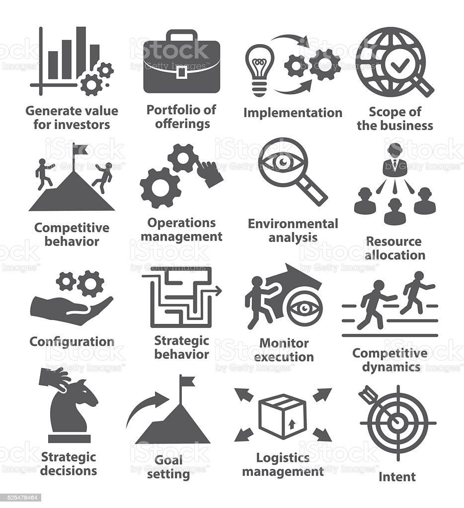 Business management icons. Pack 15. vector art illustration