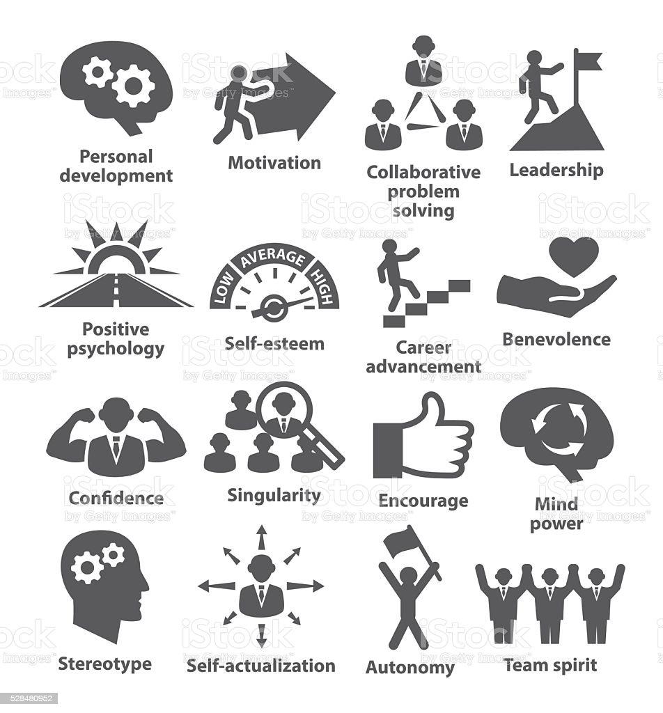 Business management icons. Pack 16. vector art illustration