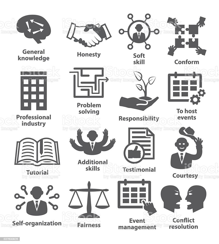 Business management icons. Pack 22. vector art illustration