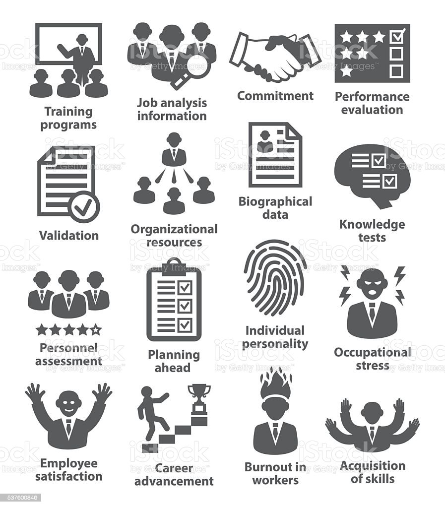 Business management icons. Pack 23. vector art illustration