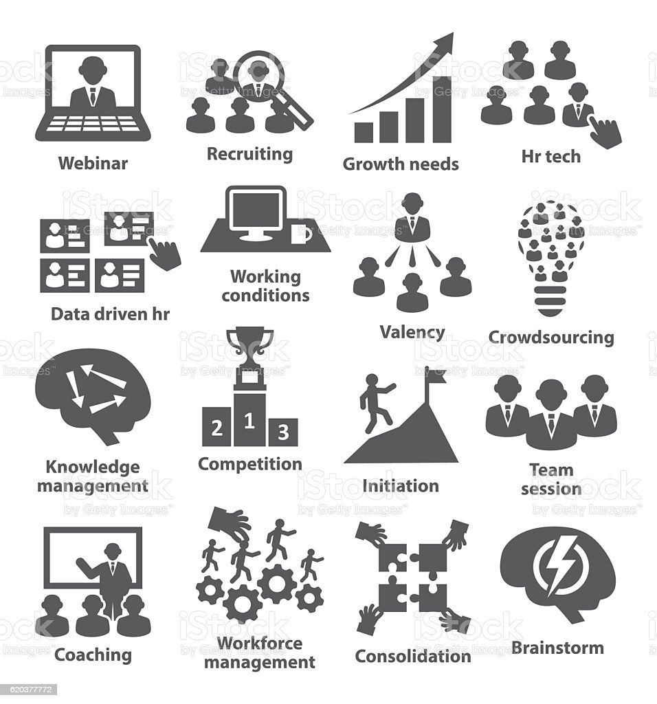Business management icons. Pack 30. vector art illustration