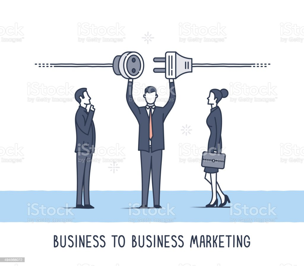 B2B Business Marketing vector art illustration