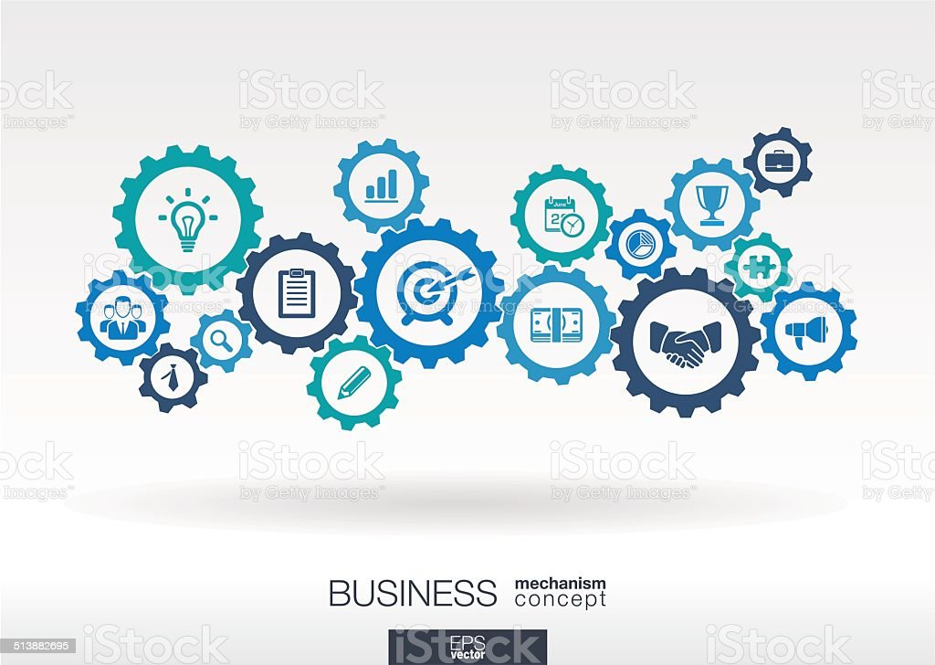 Business mechanism concept vector art illustration