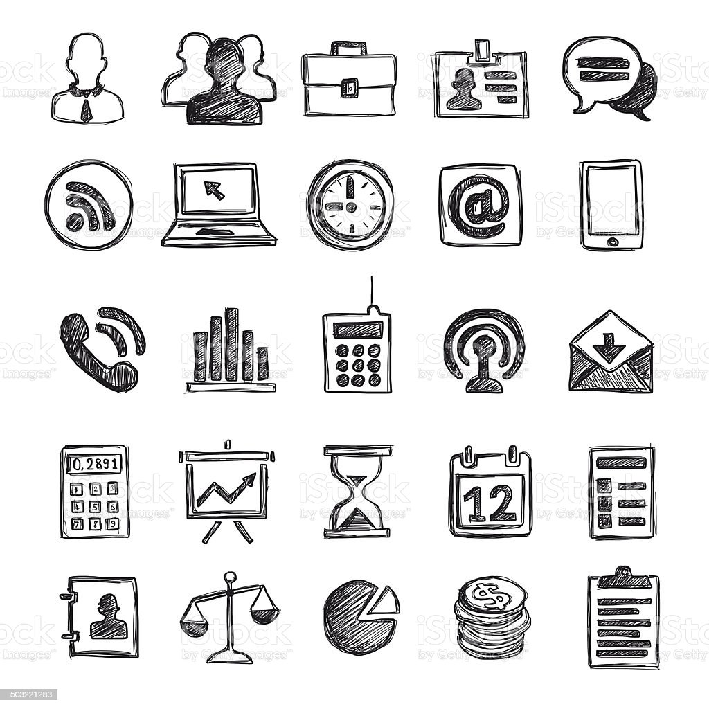 Business - Media Icons vector art illustration