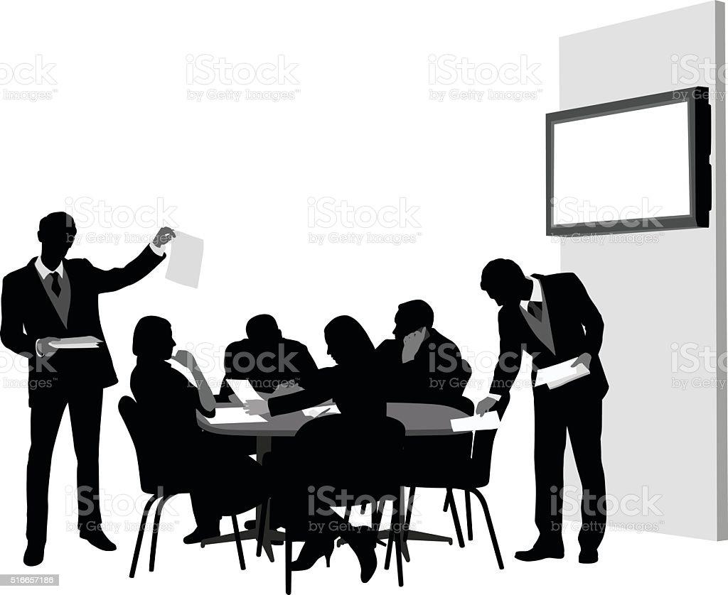 Business Meeting Agenda vector art illustration