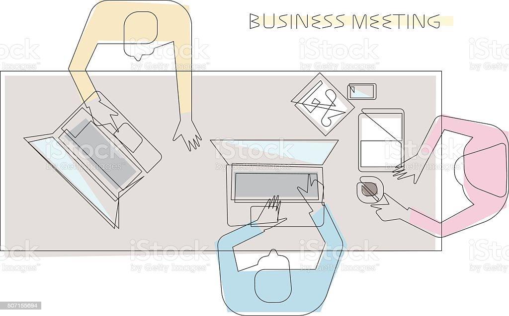 Business meeting concept vector art illustration