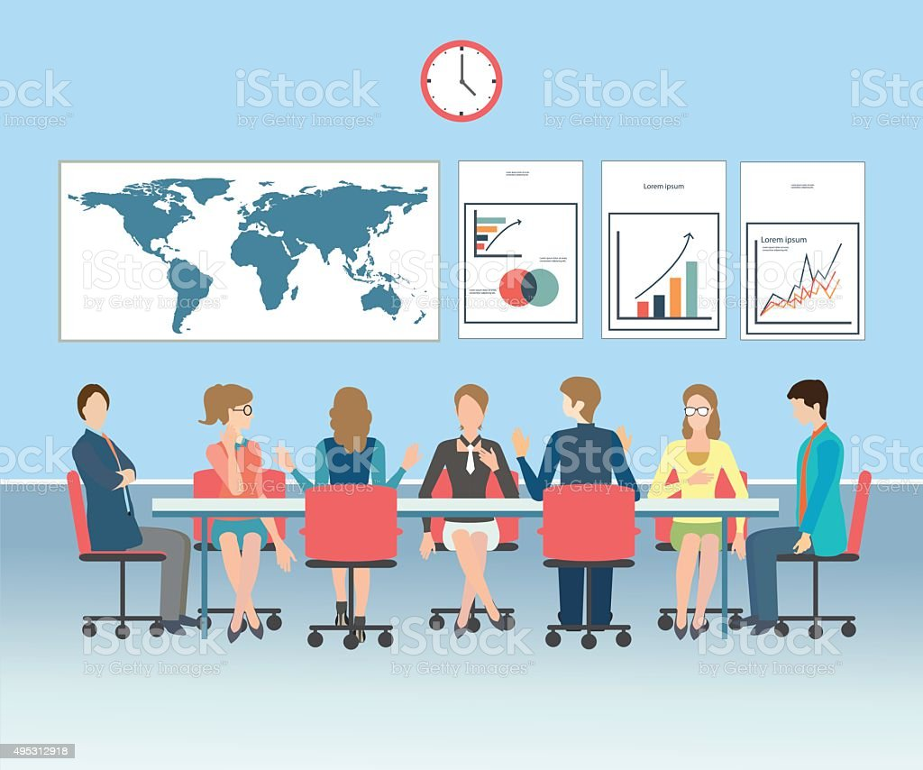 Business meeting conceptual vector illustration. vector art illustration