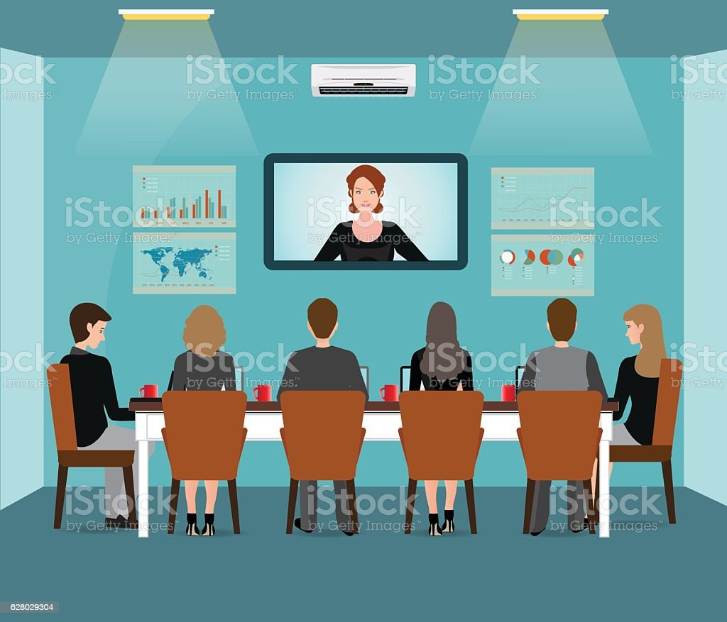 Business Meeting design with business people. vector art illustration