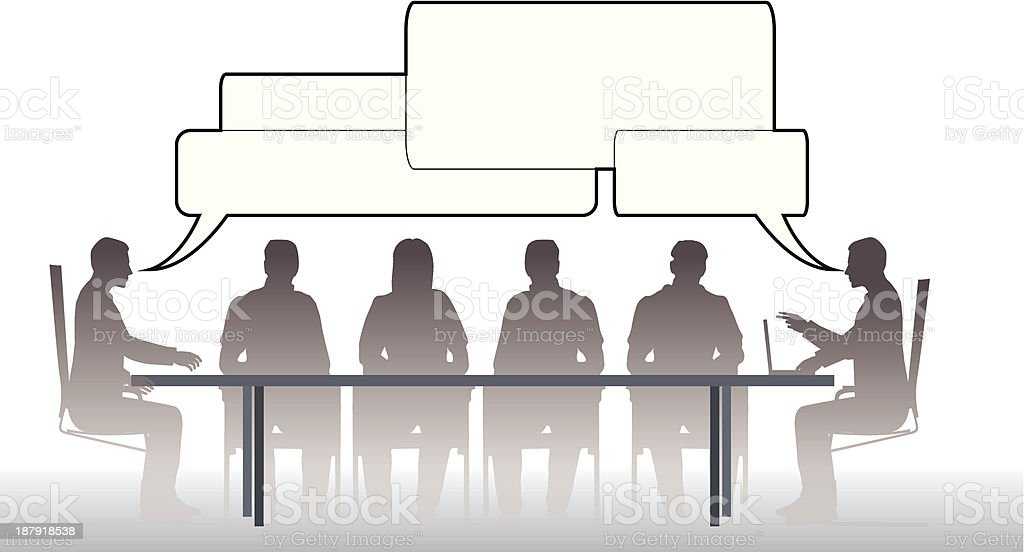 Business meeting discussion royalty-free stock vector art
