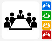 Business Meeting Icon Flat Graphic Design