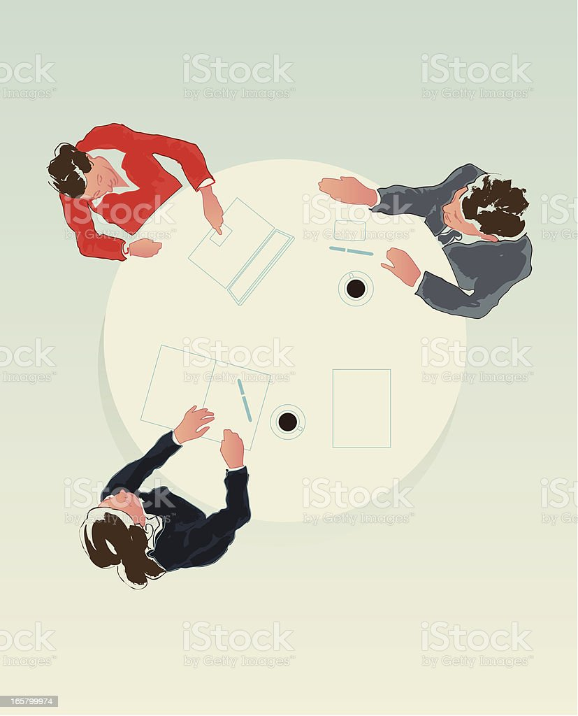business meeting vector art illustration