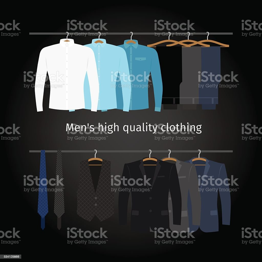 Business men casual clothing vector art illustration