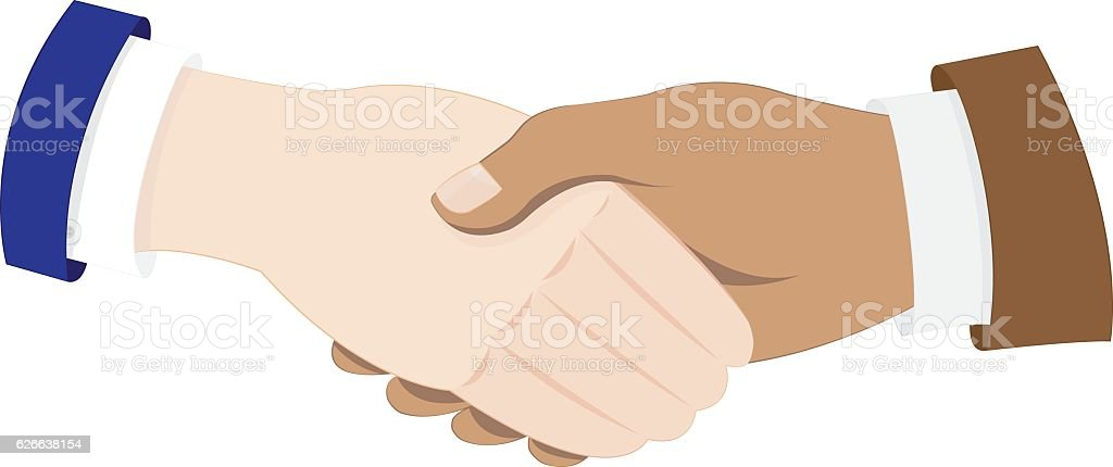 business men hands shaking vector art illustration