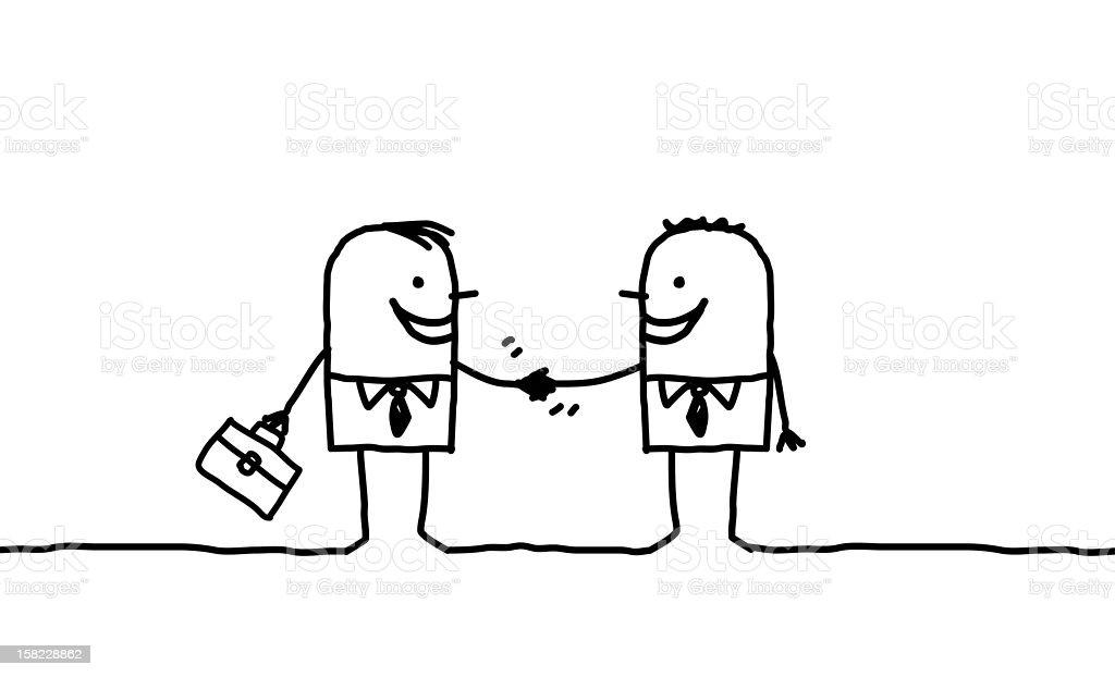 business men handshake royalty-free stock vector art