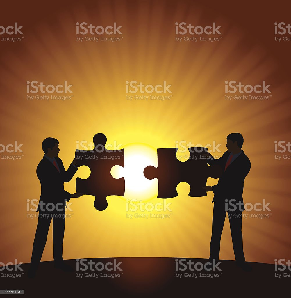 Business Men Puzzle Concept royalty-free stock vector art