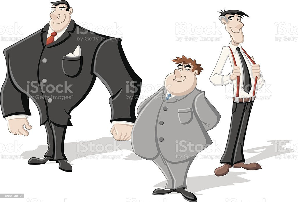 business men royalty-free stock vector art