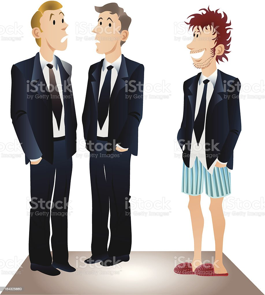 Business men vector art illustration