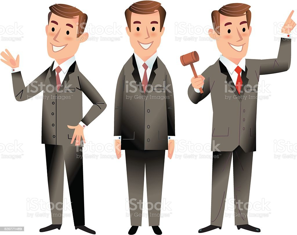 Business Men vector art illustration