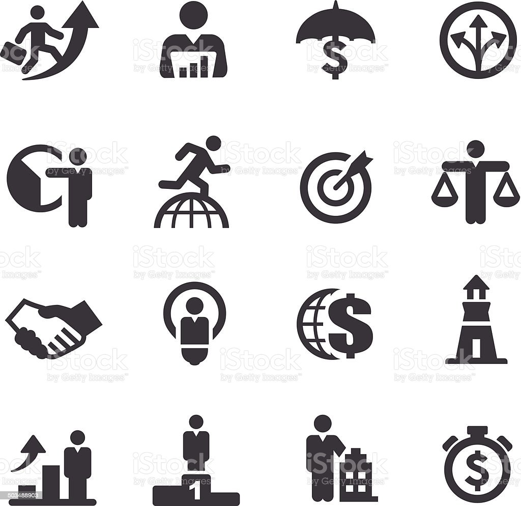 Business Metaphors Icons - Acme Series vector art illustration