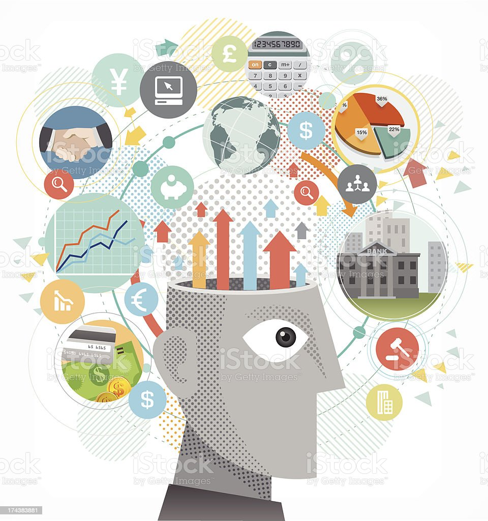Business Mind vector art illustration