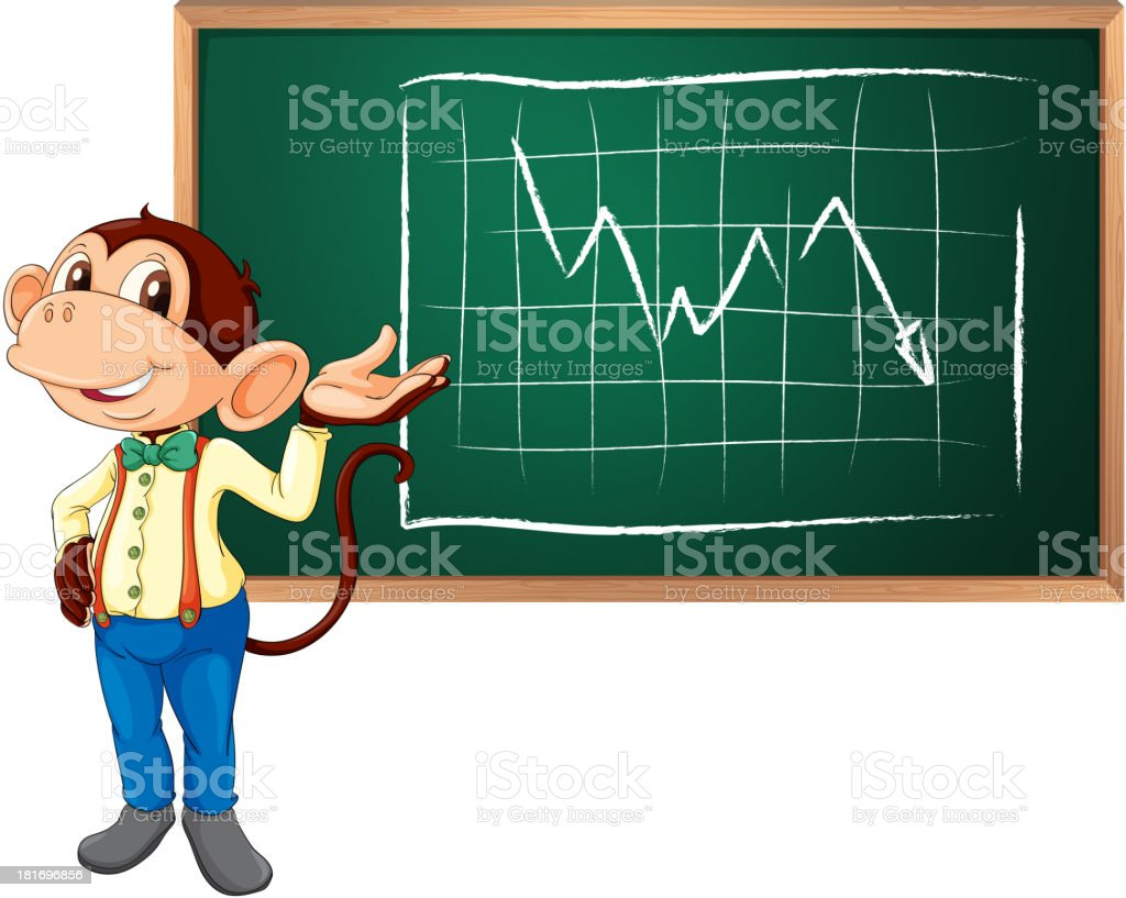 Business monkey and board royalty-free stock vector art