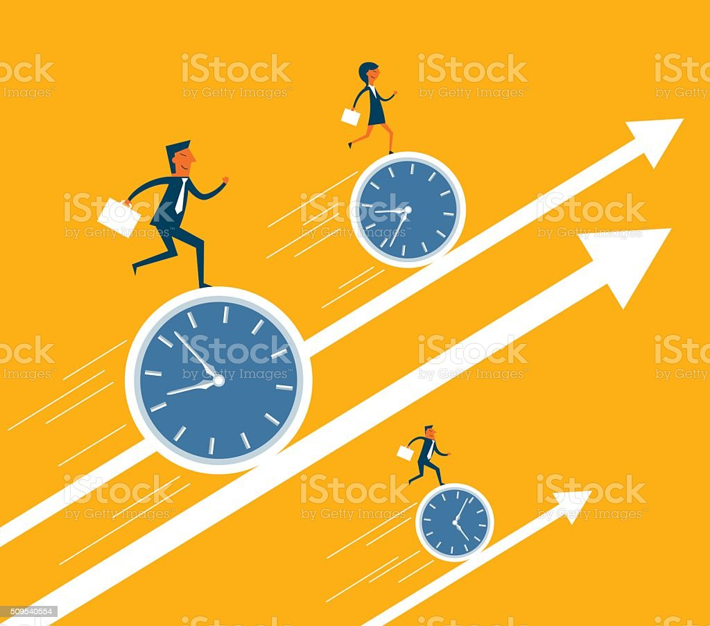 Business Moving Up vector art illustration