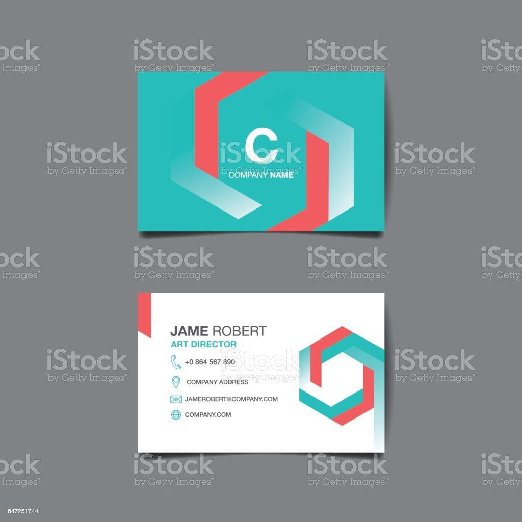 Business name card vector background vector art illustration