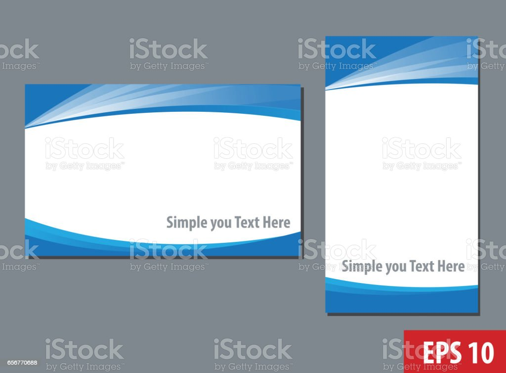 Business namecard templates vector art illustration