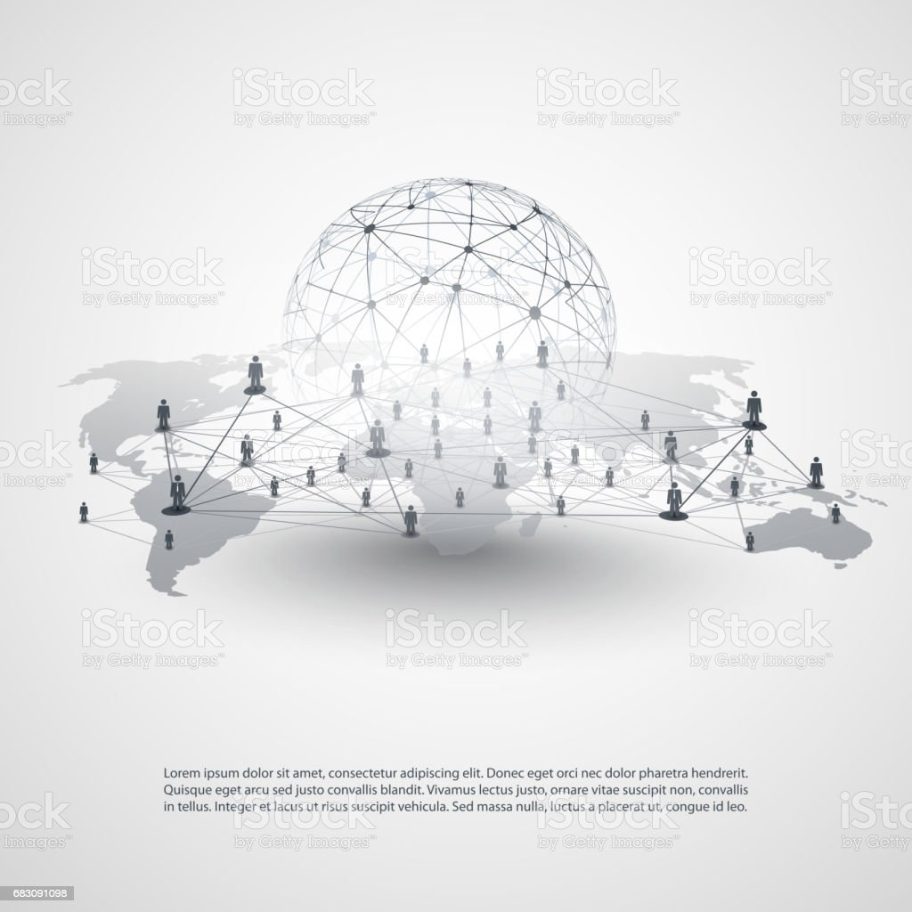 Business Network Connections Concept vector art illustration