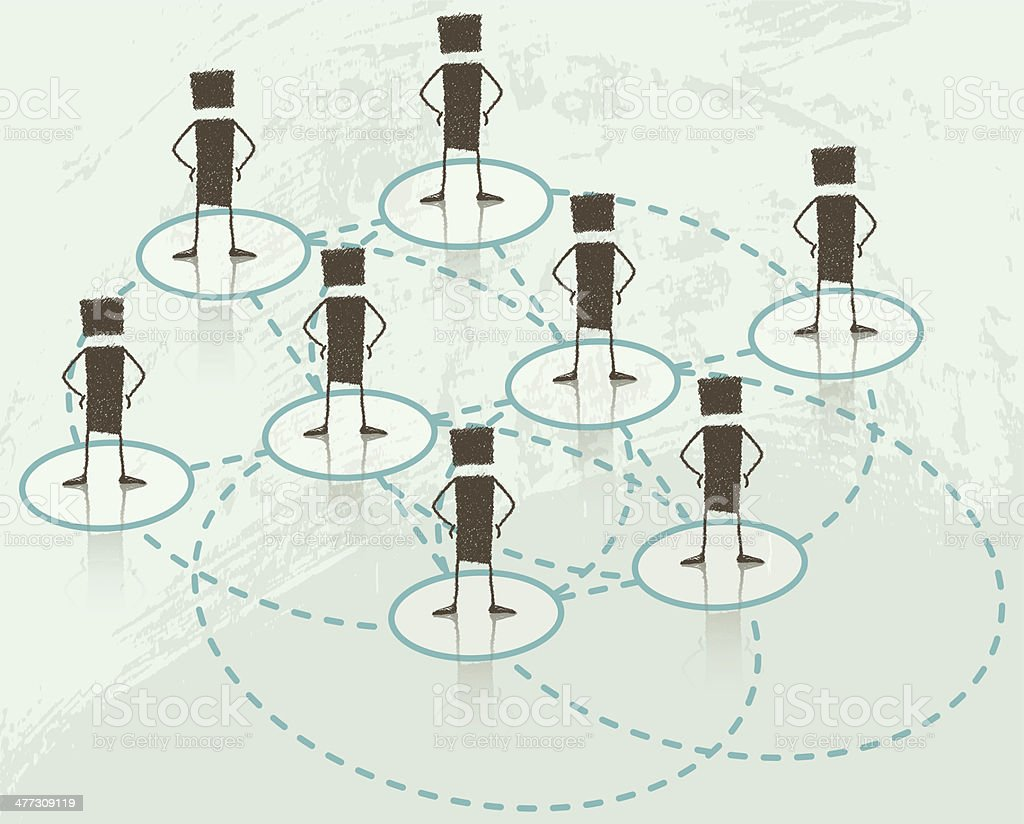 Business Network vector art illustration