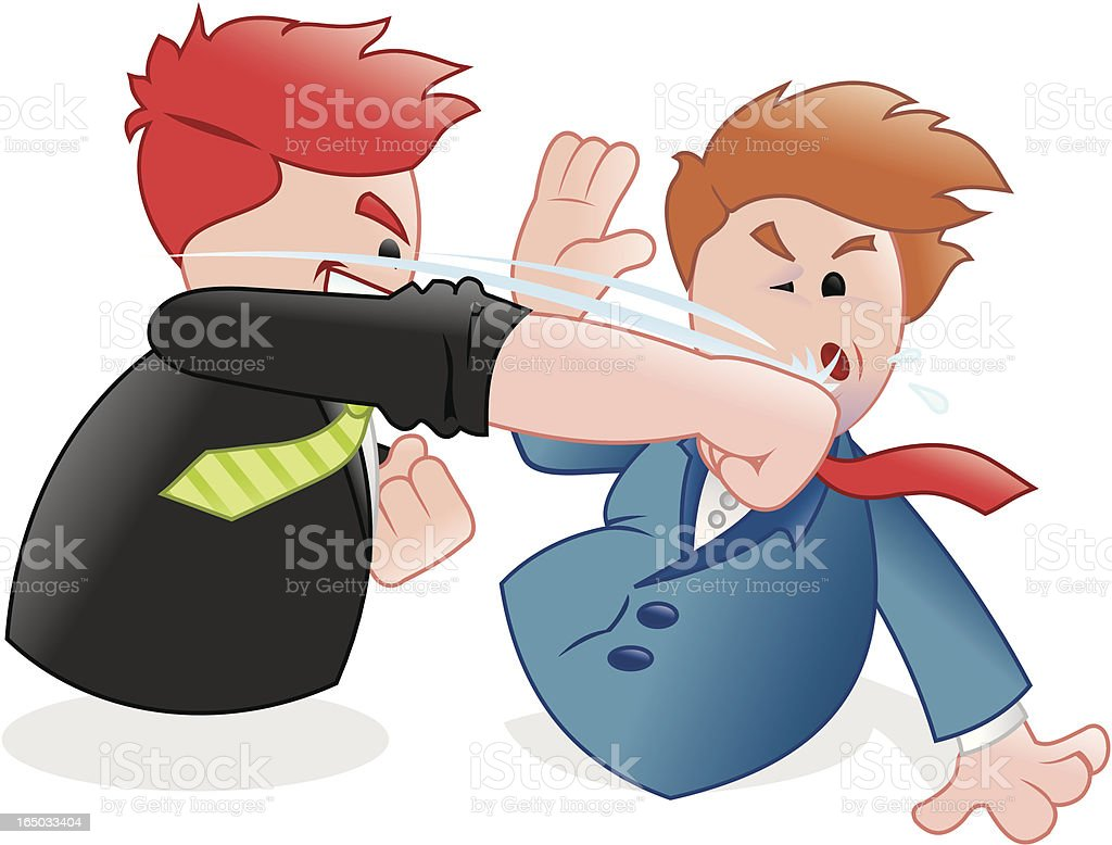 business - no time for explications, punch out! royalty-free stock vector art