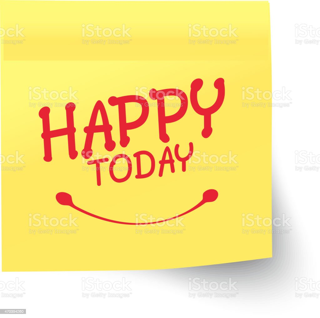 Business Notes - Happy Today vector art illustration