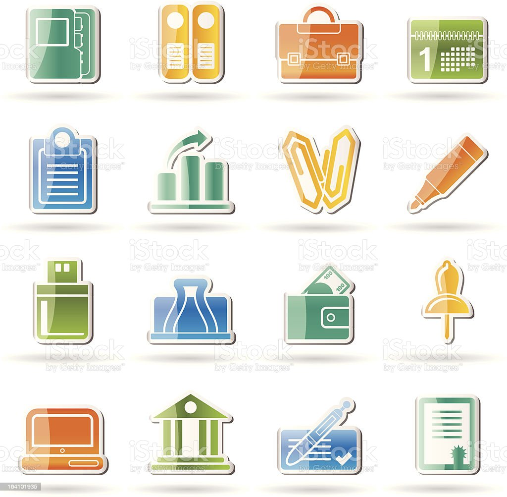 Business, Office and Finance Icons royalty-free stock vector art
