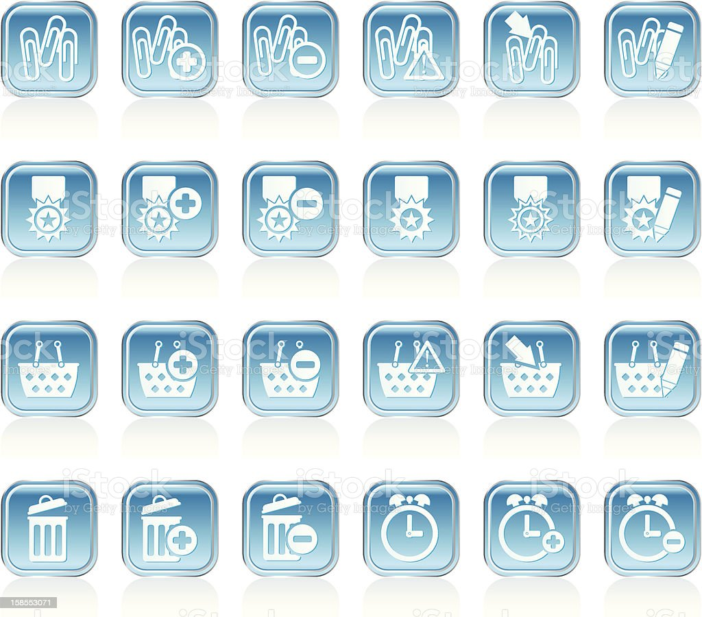Business, office and website icons royalty-free stock vector art