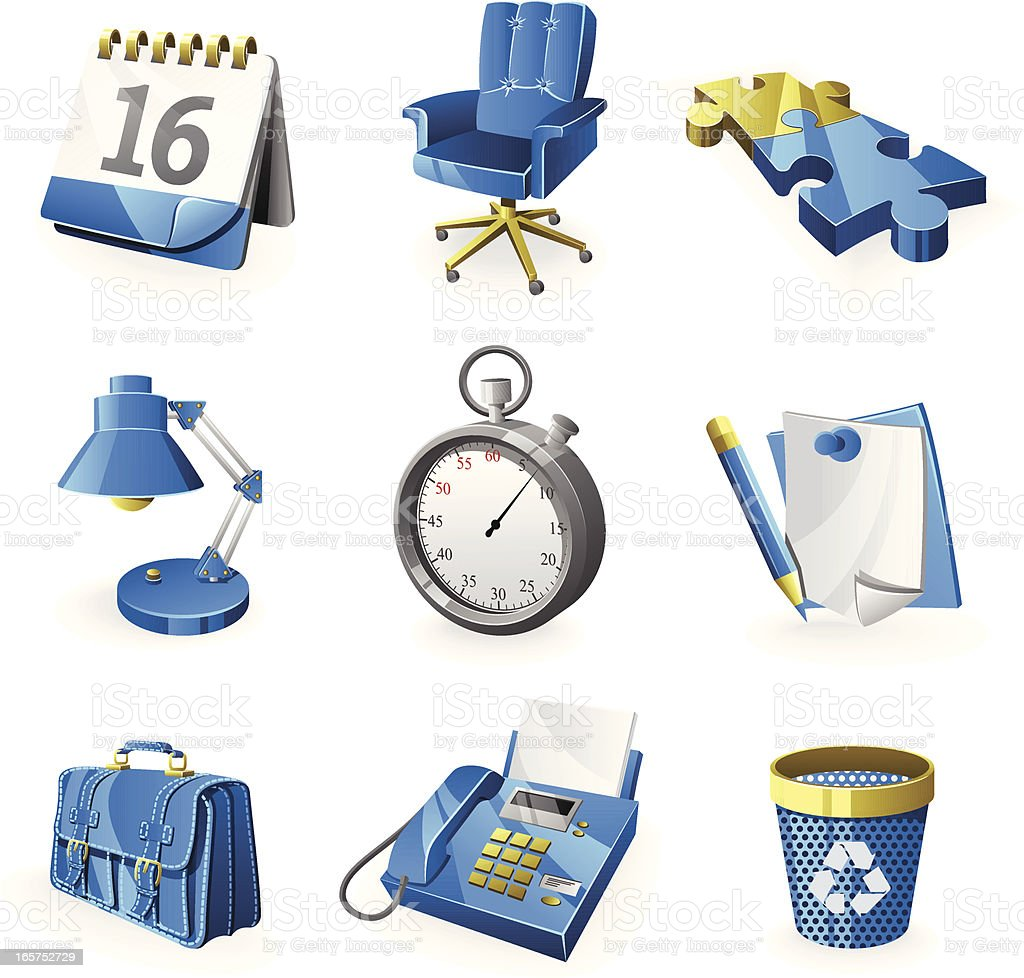 Business & Office Icon Set royalty-free stock vector art