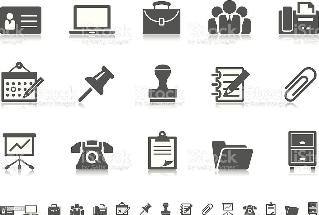 Business & Office icons | Pictoria series vector art illustration