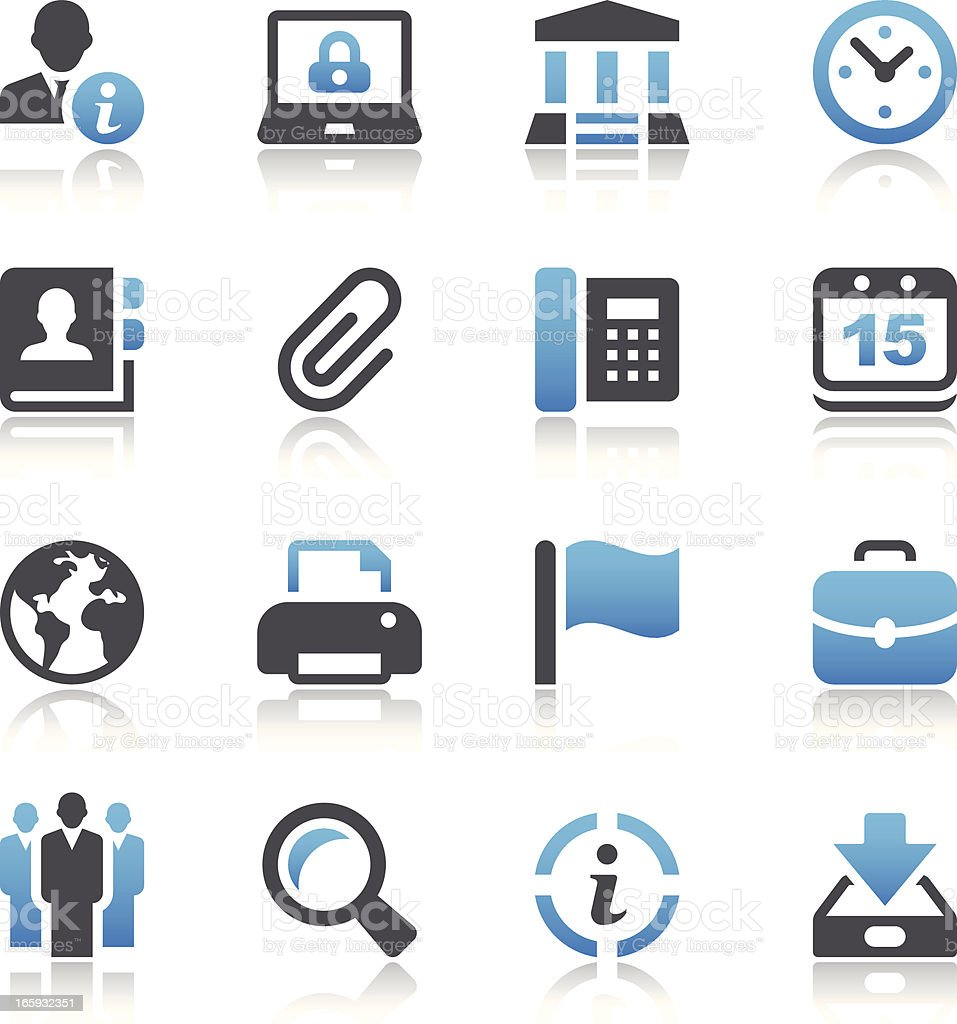 Business & Office Icons vector art illustration