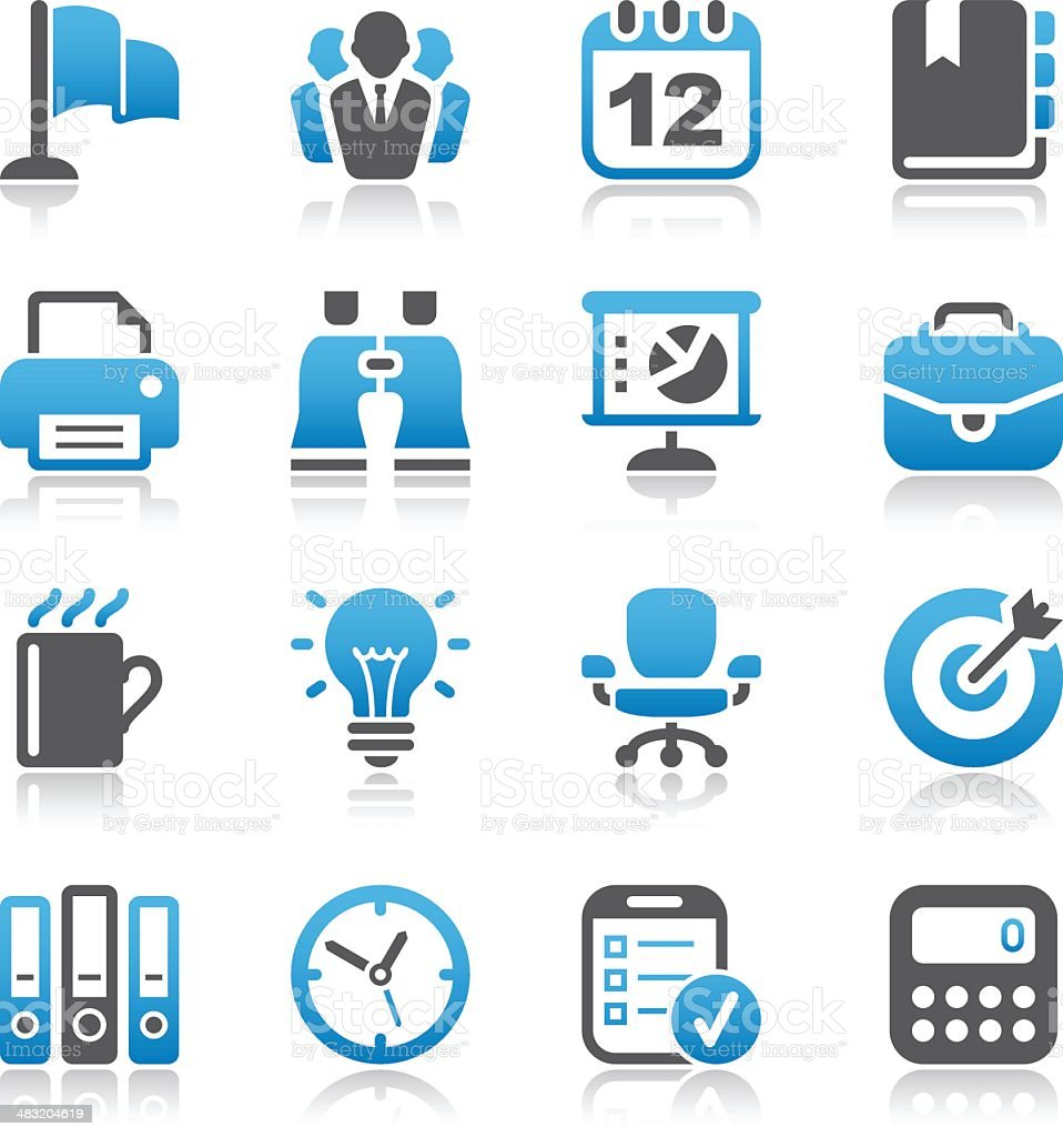 Business & Office Icons royalty-free stock vector art