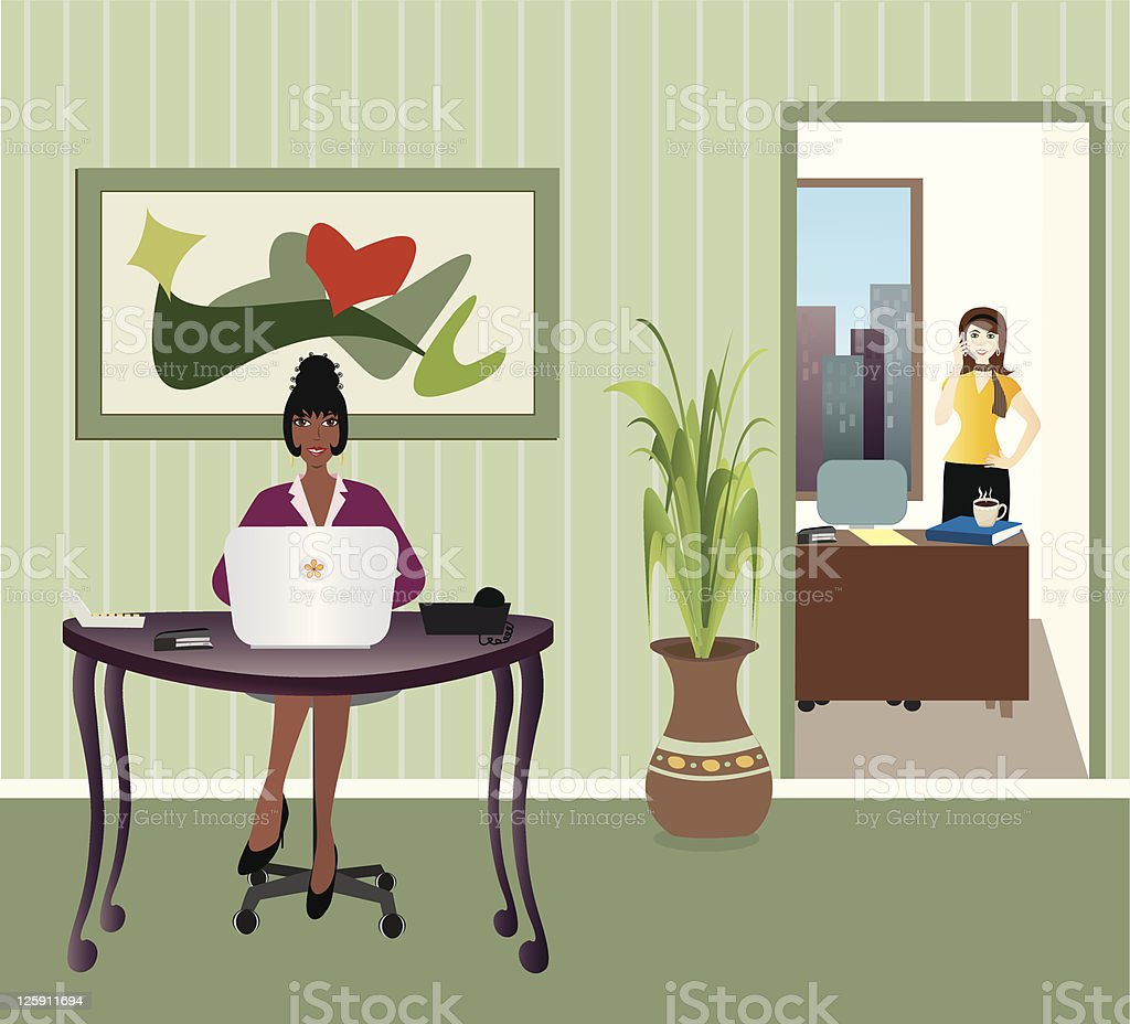 Business Office royalty-free stock vector art