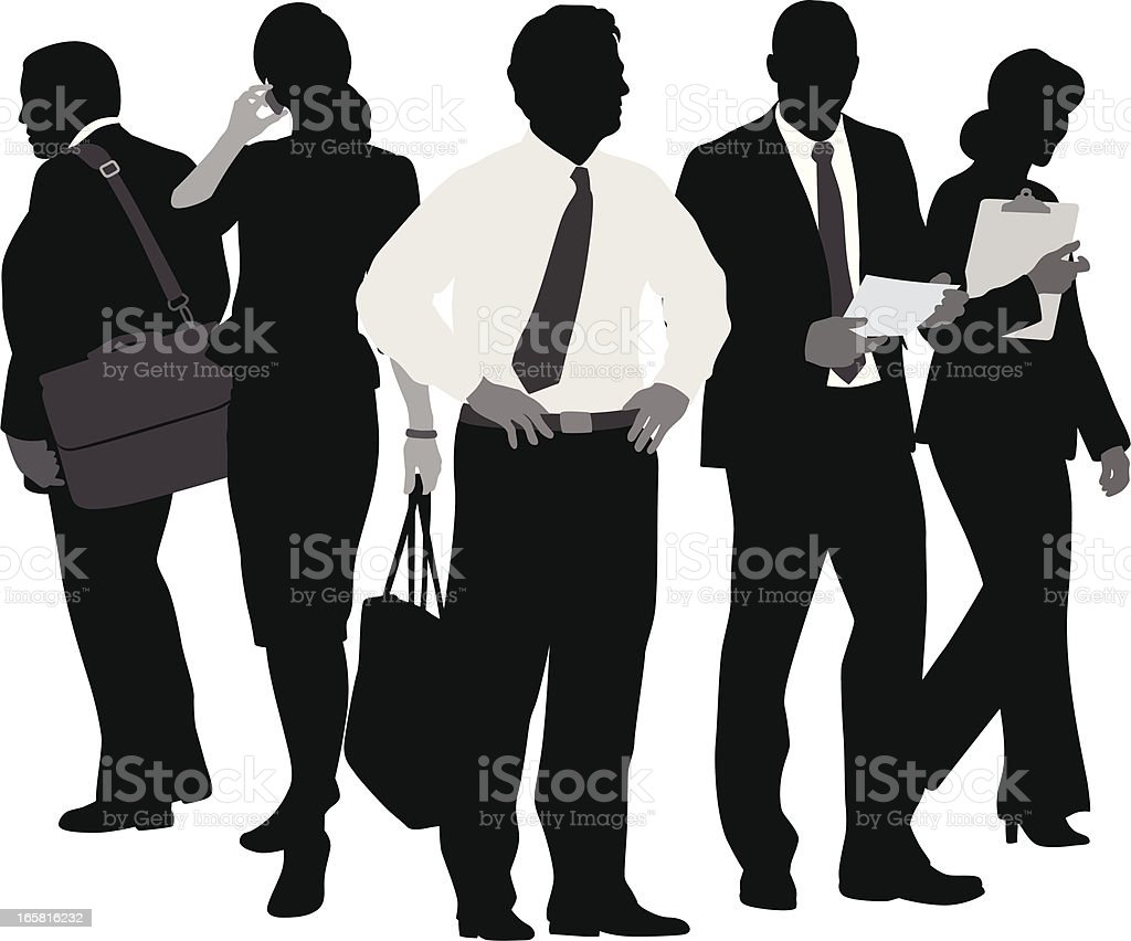 Business On Paper Vector Silhouette royalty-free stock vector art