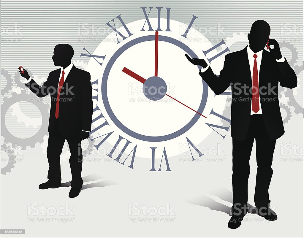 Business On Time royalty-free stock vector art