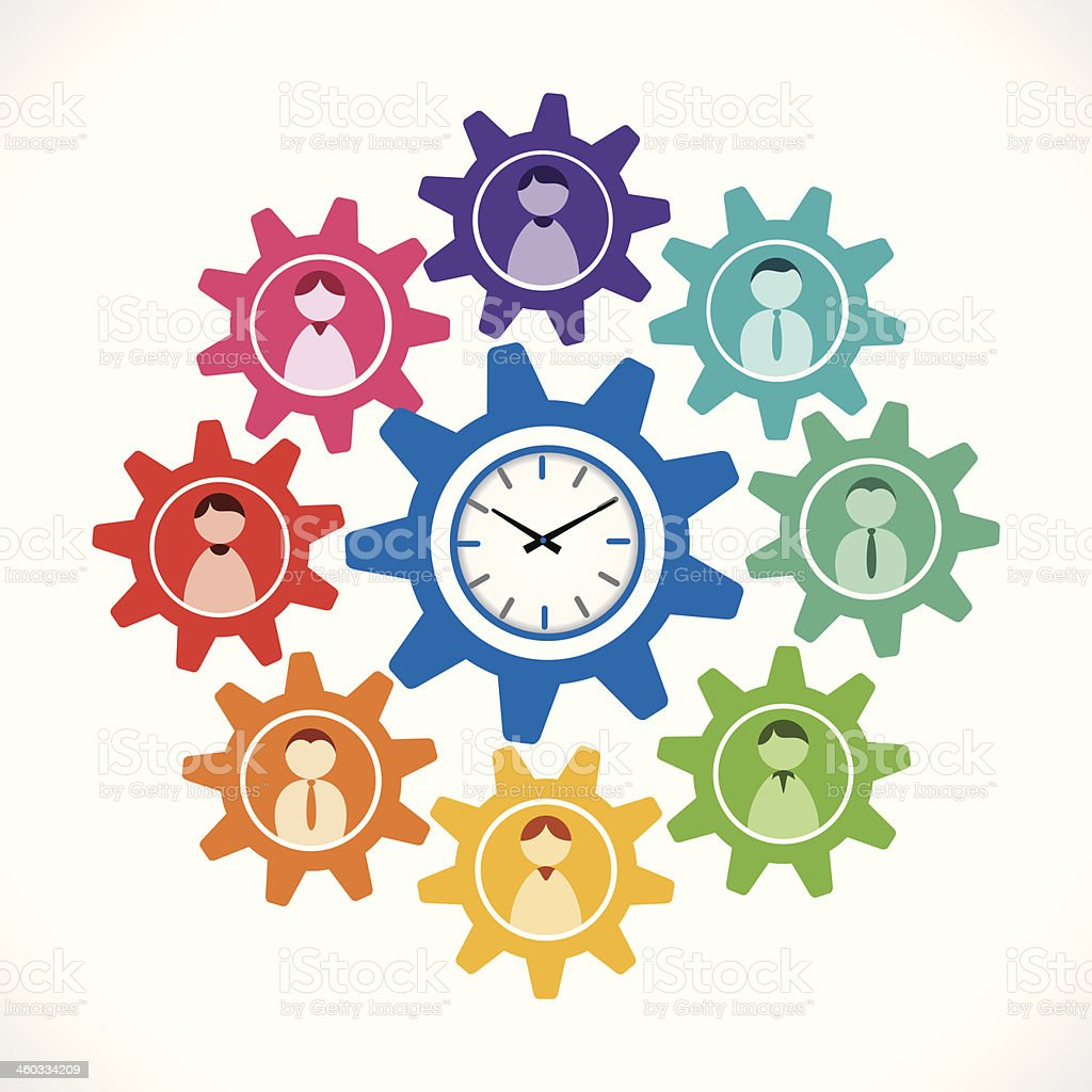 business on time vector art illustration