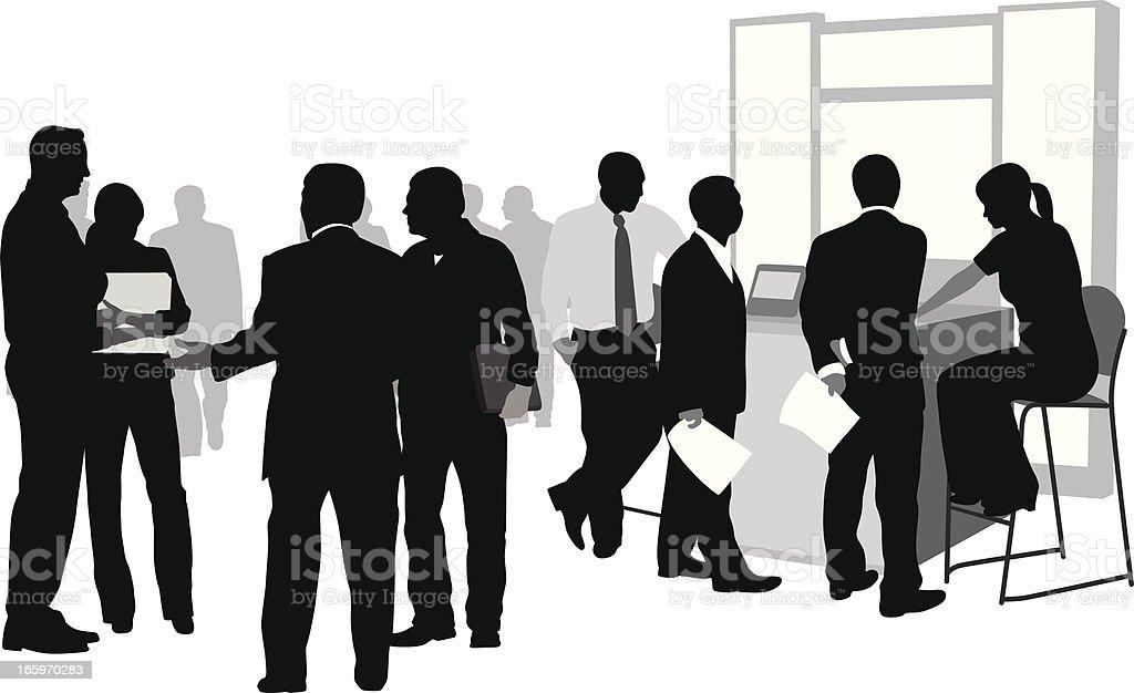 Business Options Vector Silhouette vector art illustration